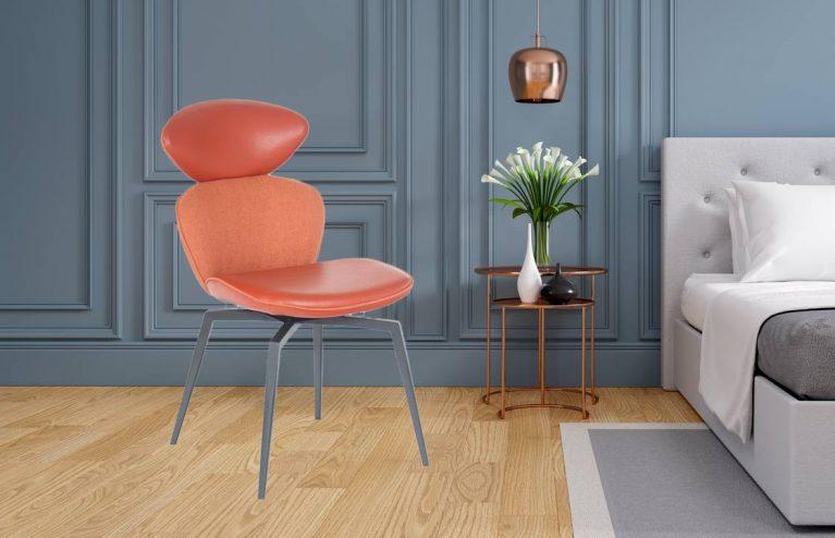 Modern and vintage bedroom design,Cozy gray room concept ,3d rendering