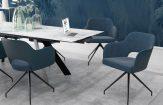chaise-chic assise pivotante-bleu-mélange-tissus-et-polyuréthane-ch093bl-2-0