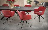 chaise-chic assise pivotante-rouge-mélange-tissus-et-polyuréthane-ch093ro-3-0